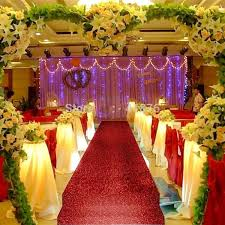 10 m fashion gold pearlescent wedding carpet t station aisle