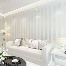 wide wallpaper home decor modern 10m roll non woven simple wide stripe wallpaper living room