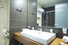 Bathroom With Mirrors Frameless Bathroom Mirror Ideas Mirror Ideas Hang A Frameless
