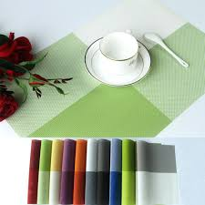 dining table amy dining table mats 4530cm pvc placemat coaster