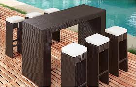 Outdoor Bar Table And Stools Borneo Wicker Outdoor Furniture Bar Table 6 Bar Stools