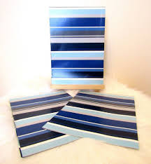 m m wrapping paper new 3 x sheets blue black grey stripes gift wrapping paper 495