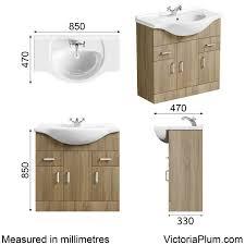Eden Bathroom Furniture by Orchard Eden Oak Vanity Unit And Basin 850mm Victoriaplum Com