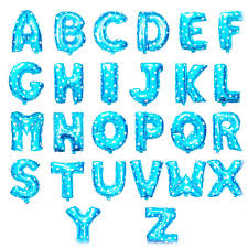 balloon letters 16 inch blue letters foil balloon wholesale suppliers 16 inch blue