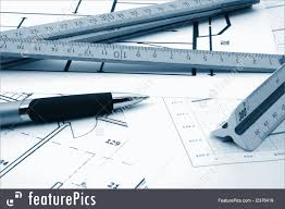 construction architecture plans of residential real estate