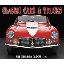 Desk Daily Calendar Cars And Trucks Classic 2018 Desk Calendar 9781682346730