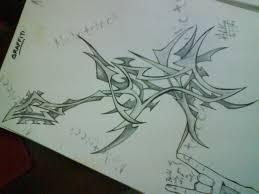 tribal guitar sketch by ad sharingan on deviantart