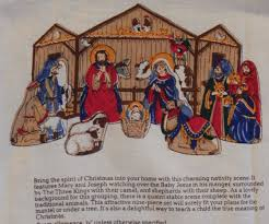 nativity fabric panel cranston create your own christmas scene