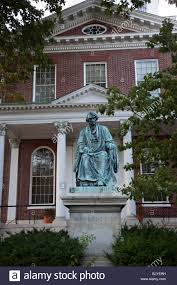 a statue in front of the maryland state house in annapolis stock