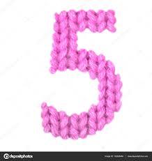 number 5 five alphabet color pink u2014 stock photo lbrfzhjpf