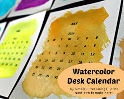 Diy Desk Calendar by Simple Silver Linings Give This Watercolor Desk Calendar A Dry Run