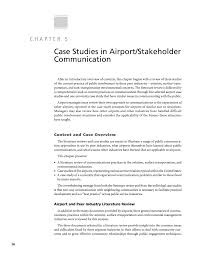 chapter 5 case studies in airport stakeholder communication