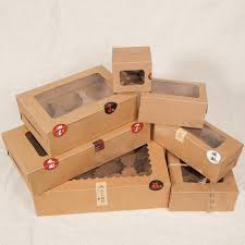where to buy a cake box aliexpress buy large brown muffin packaging 6 cupcake boxes