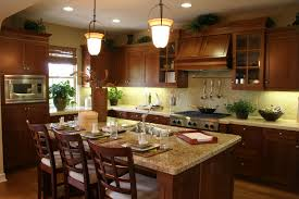 dark wood cabinets kitchen home decoration ideas