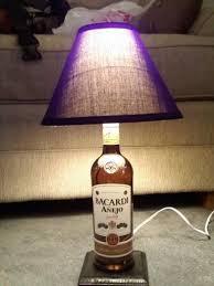 Lamps Made From Bottles Booze Bottle Lamp 7 Steps