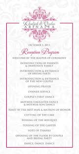 100 examples of wedding ceremony programs invitation letter