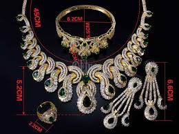 necklace bracelet earring ring images Luxurious grand wedding bridal wear party wear jewelry set with jpg
