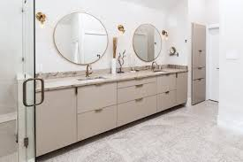 ikea kitchen cabinets in the bathroom calm and clean bathroom using a neutral color scheme decor