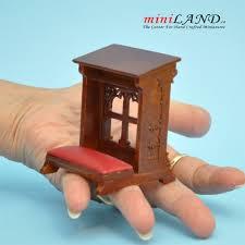 kneeling bench church walnut high quality for dollhouse miniature