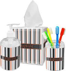 gray stripes bathroom accessories set personalized potty