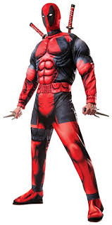 Marvel Halloween Costume Rubie U0027s Official Marvel Deadpool Deluxe Costume Standard