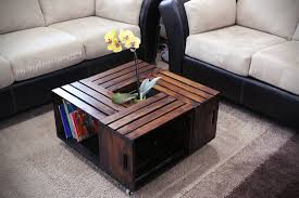 wood crate coffee table about remodel creative home decoration