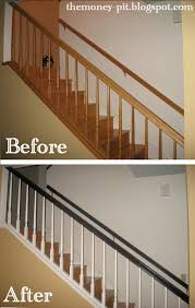 How To Restain Banister Stair Makeover Reveal And Tutorial The Kim Six Fix