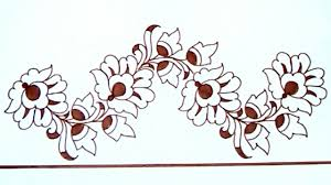 saree border projects for embroidery designs drawing pencil