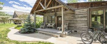 One Story Log Cabins Luxury Log Cabin Bluebird The Ranch At Rock Creek