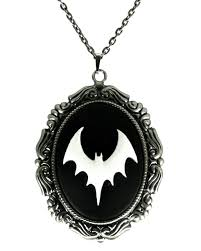 cameo necklace images Cameo necklace bat gothic jewellery horror jpg