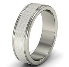 satin finish ring wedding ring platinum wedding ring mens wedding ring