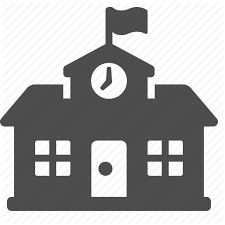 high high school house building college education high school house school icon