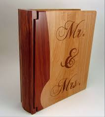 engraved photo albums wood personalized photo album mr mrs