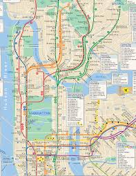 Nyc Bike Map Download Map Of Nyc Major Tourist Attractions Maps
