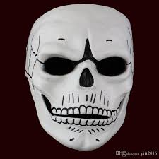 James Bond Halloween Costume Movie 007 James Bond Spectre Mask Skull Skeleton Scary Halloween