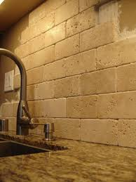 mesmerizing natural stone tile kitchen backsplash come with cream