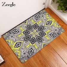 Bathroom Floor Mats Rugs Zeegle Mandala Carpets Geometric Pattern Bathroom Floor Mats