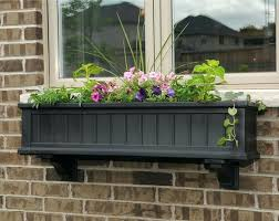 window box planter double hung exterior window window box planter
