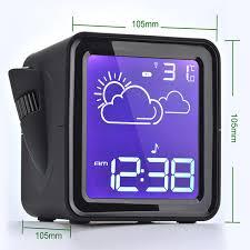 gadget bureau meteo led projecteur radio numérique rétro éclairage affichage horloge