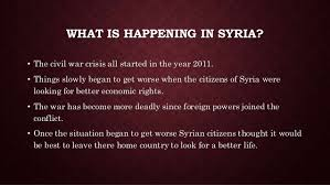 powerpoint syrian refugee crisis