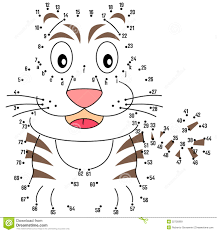 connect the dots tiger royalty free stock images image 22705869