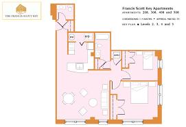 2 Bedroom One Bath Apartment Floor Plans by Floor Plans U2013 Francis Scott Key Apartments