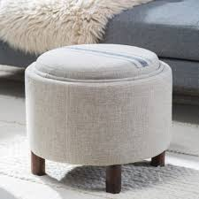 Grey Ottoman Coffee Table Living Room Colored Leather Ottoman Large Square Grey