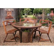 Patio Furniture Sets With Fire Pit by Exterior Oval Metal Patio Table With Black Finish Patio Fire Pit