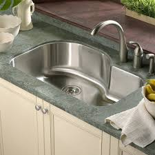 single bowl kitchen sink houzer medallion designer 31 5 x 17 94 21 undermount offset