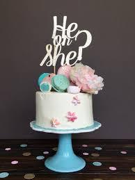 gender reveal cake topper gender reveal cake topper he or she cake topper cake topper