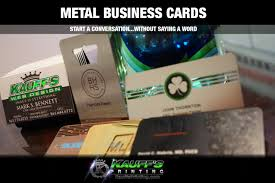 Commercial Business Card Printer Metal Business Cards Palm Beach Commercial Printing Kauffs