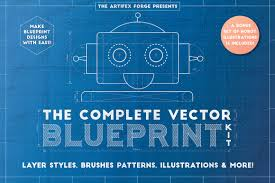 blue print size the complete vector blueprint kit add ons creative market