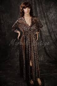 Vanity Fair Gowns And Robes Vintage Vanity Fair Lingerie Leopard Print Dressing Gown Short