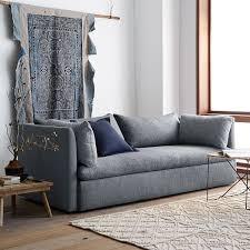 Shelter Sofa Yarn Dyed Linen Weave Shelter Blue Shelter Living